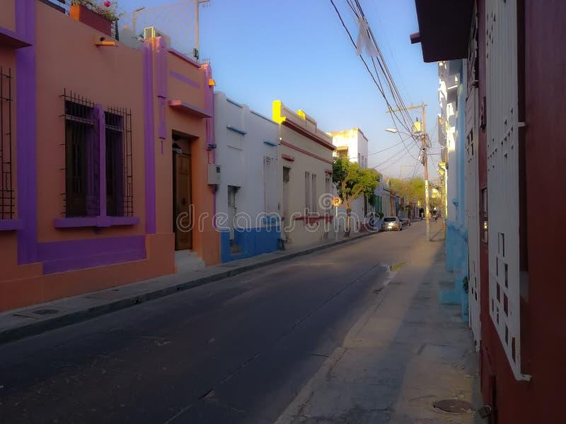 Kleurrijke straten royalty-vrije stock foto's
