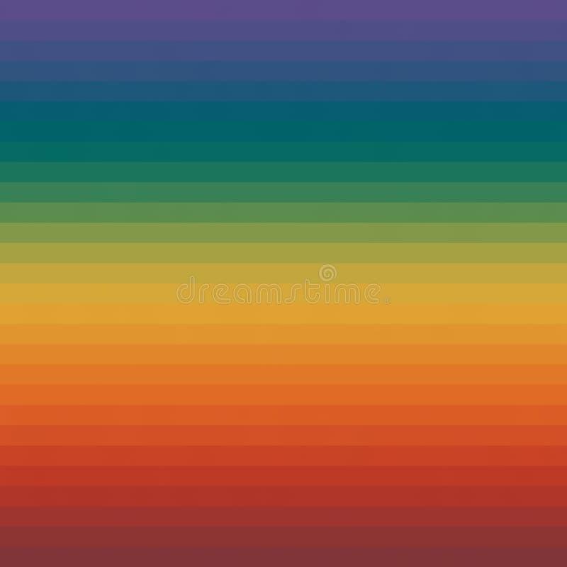 Kleurrijke Streep Achtergrond Multi Gekleurde Patroon In Kleuren vector illustratie