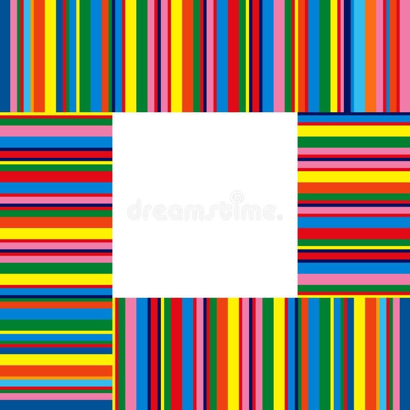 Kleurrijke strepen stock illustratie