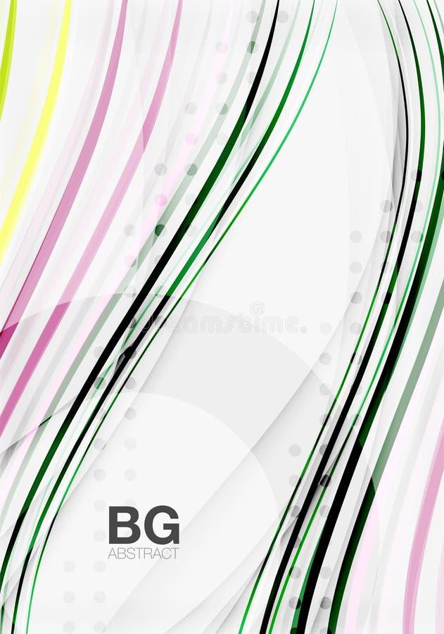 Kleurrijke strepen op grijs vector illustratie