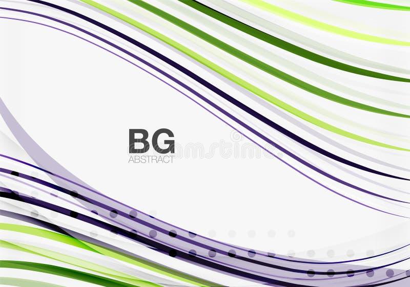Kleurrijke strepen op grijs royalty-vrije illustratie