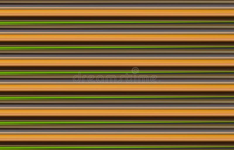 Kleurrijke strepenabstractie als achtergrond, groene dynamische lijnenoker stock illustratie