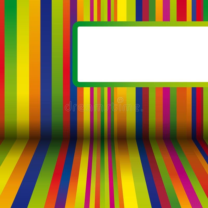Kleurrijke strepenachtergrond vector illustratie