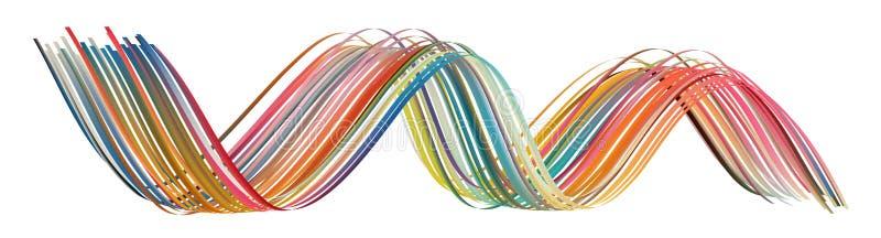 Kleurrijke stroomkwaststreek Lint ge?soleerde lijn vector illustratie