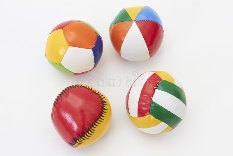 Kleurrijke stuk speelgoed ballen royalty-vrije stock afbeeldingen