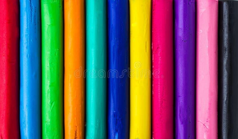 Kleurrijke stuk speelgoed klei stock afbeelding