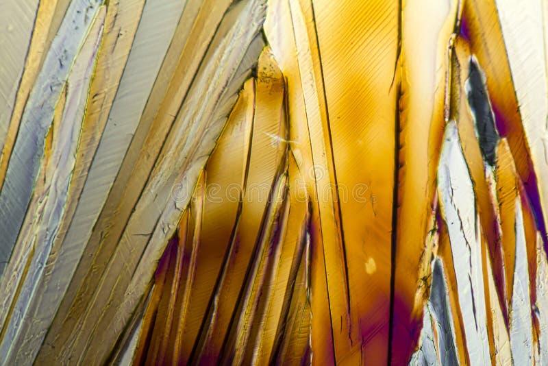 Kleurrijke Sucrose micro- kristallen royalty-vrije stock foto's