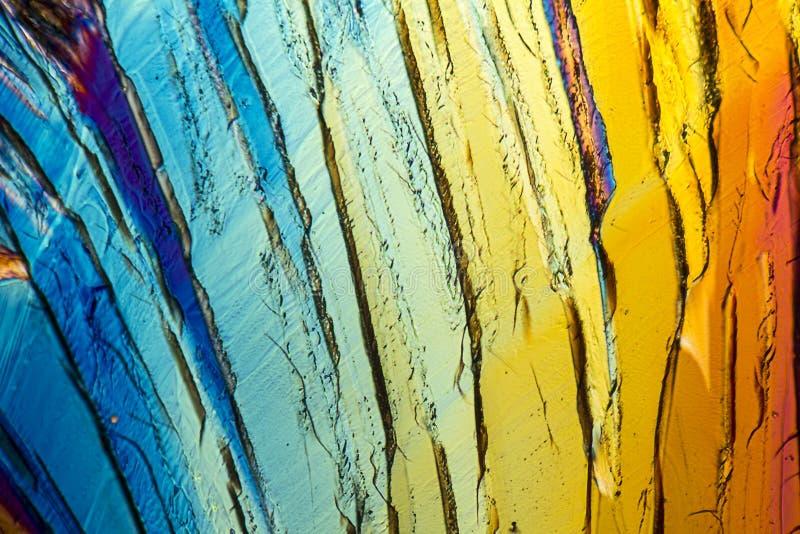 Kleurrijke Sucrose micro- kristallen royalty-vrije stock fotografie