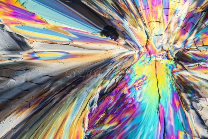 Kleurrijke suiker micro- kristallen stock afbeelding
