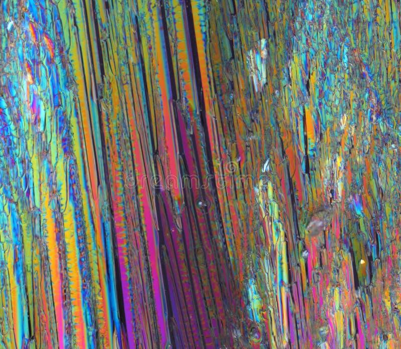 Kleurrijke suikerkristallen stock afbeeldingen