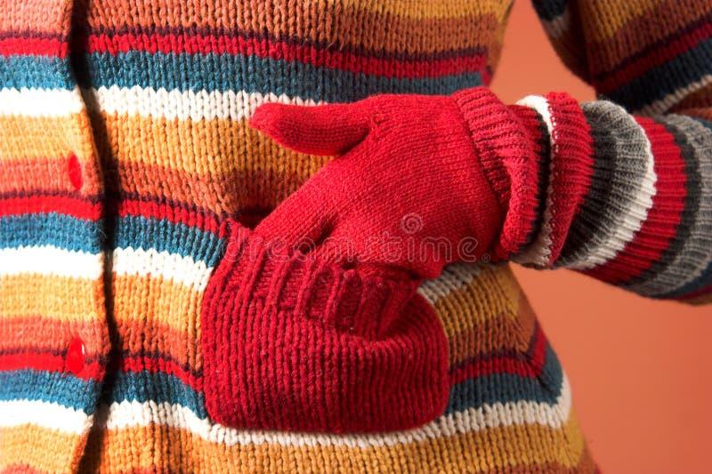 Kleurrijke sweater en zak royalty-vrije stock fotografie