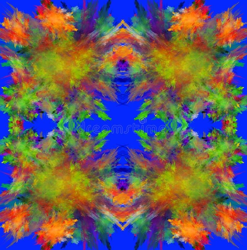 Kleurrijke symmetrische fractal achtergrond Geproduceerde computer grap royalty-vrije illustratie