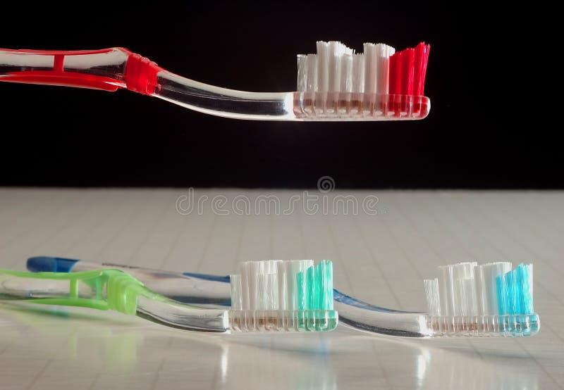 Kleurrijke Tandenborstels stock foto