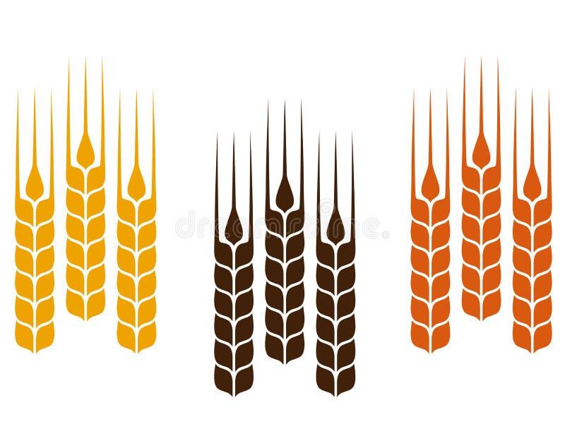 Kleurrijke tarweoren stock illustratie