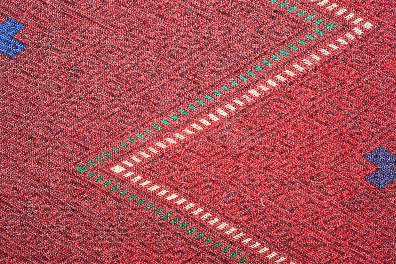 Kleurrijke Thaise omhoog dichte de dekenoppervlakte van de zijde handcraft Peruviaanse stijl meer dit motief & meer mooie backgro royalty-vrije stock afbeeldingen