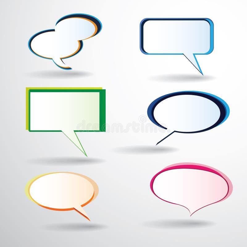 Download Kleurrijke toespraakbellen vector illustratie. Illustratie bestaande uit overseinen - 54078429