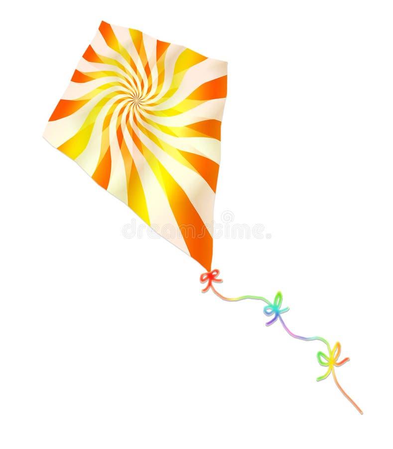 Kleurrijke tollende vlieger royalty-vrije illustratie
