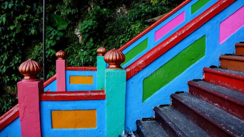kleurrijke treden van batuholen royalty-vrije stock foto's