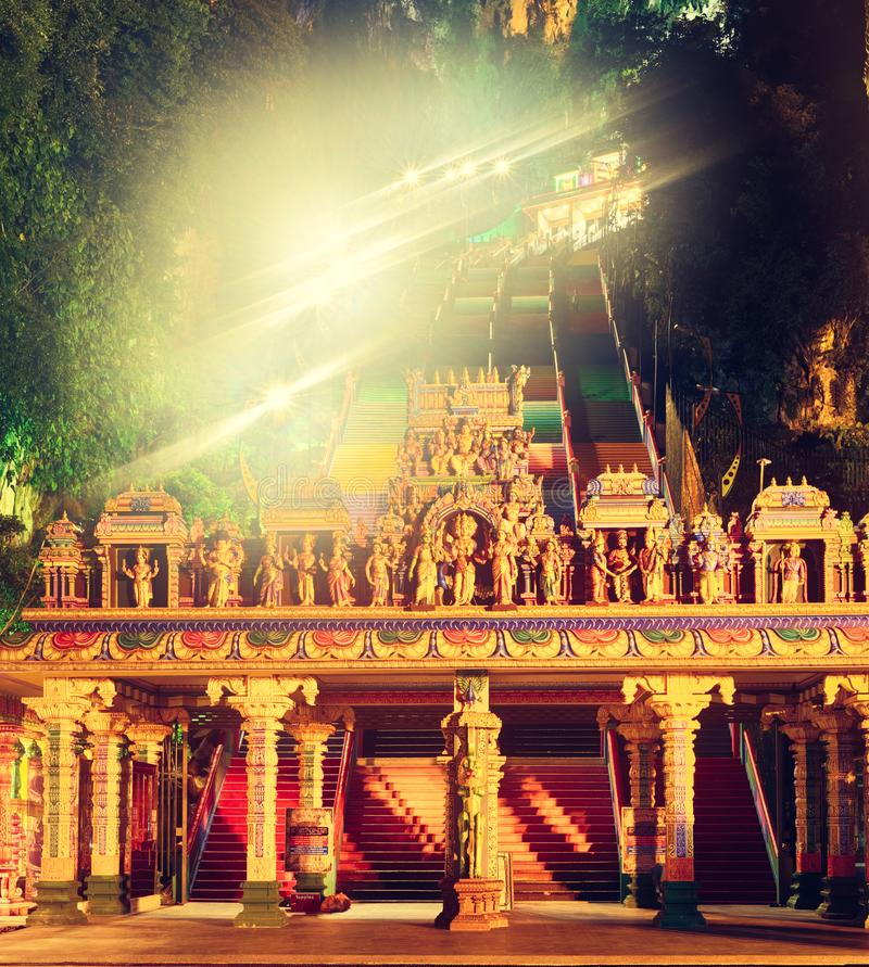 kleurrijke treden van batuholen maleisië royalty-vrije stock foto's