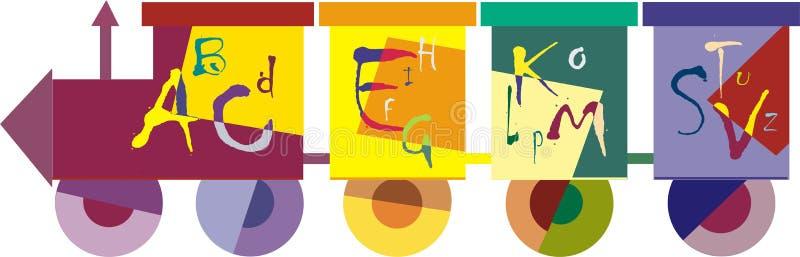 Kleurrijke trein stock afbeelding