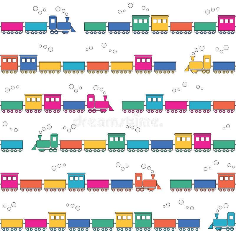Kleurrijke treinenachtergrond royalty-vrije illustratie
