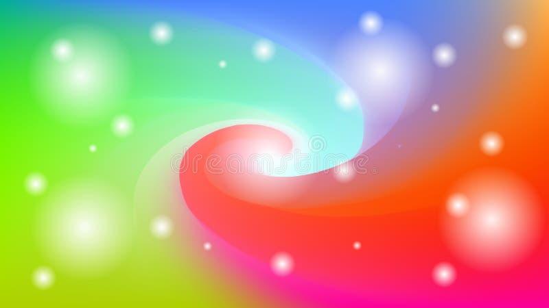 Kleurrijke vage wervelingsachtergrond met sterren, lichten Moderne abstracte gradiëntkaart vector illustratie