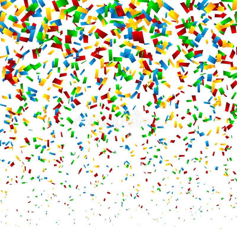 De Achtergrond van confettien royalty-vrije illustratie