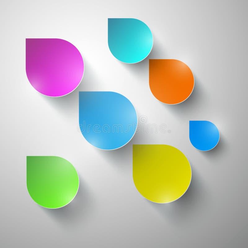 Kleurrijke Vectordocument Waterdalingen vector illustratie