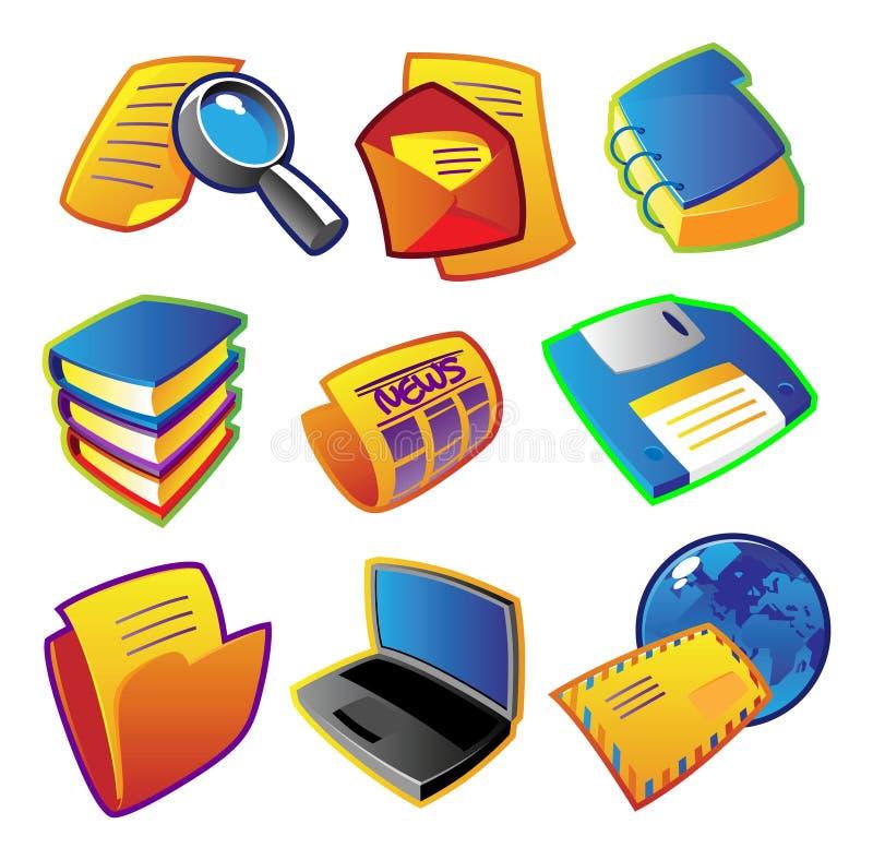 Kleurrijke vectoren: informatie royalty-vrije illustratie