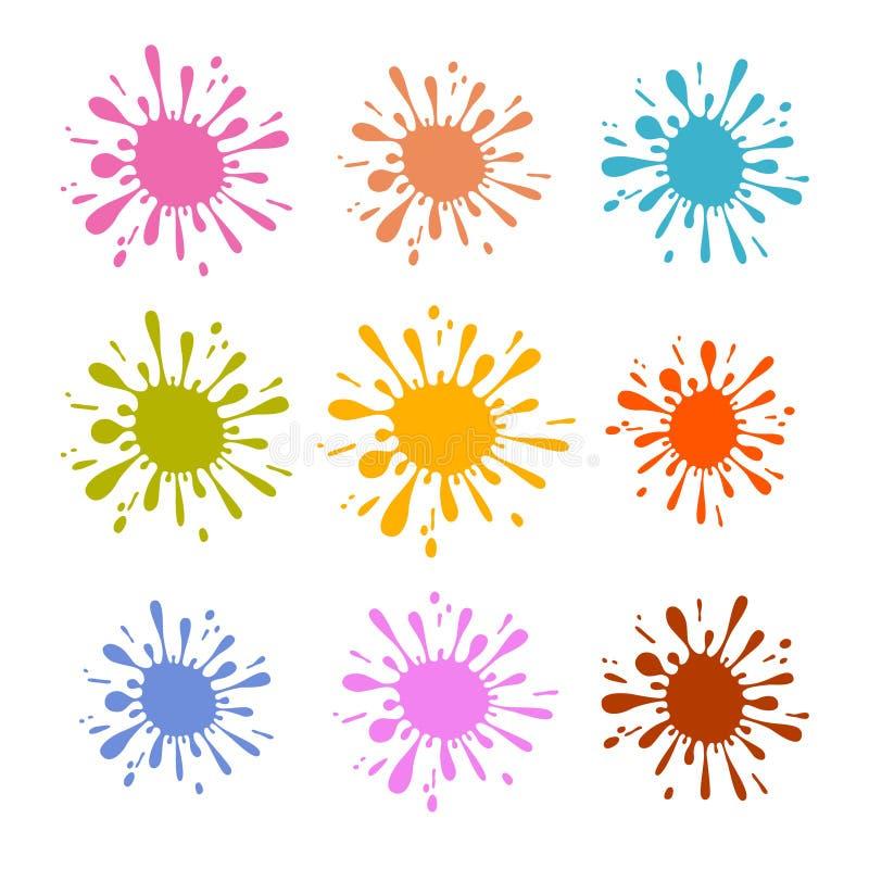 Kleurrijke Vectorplons - Vlek - de Reeks van de Vlekkenillustratie royalty-vrije illustratie