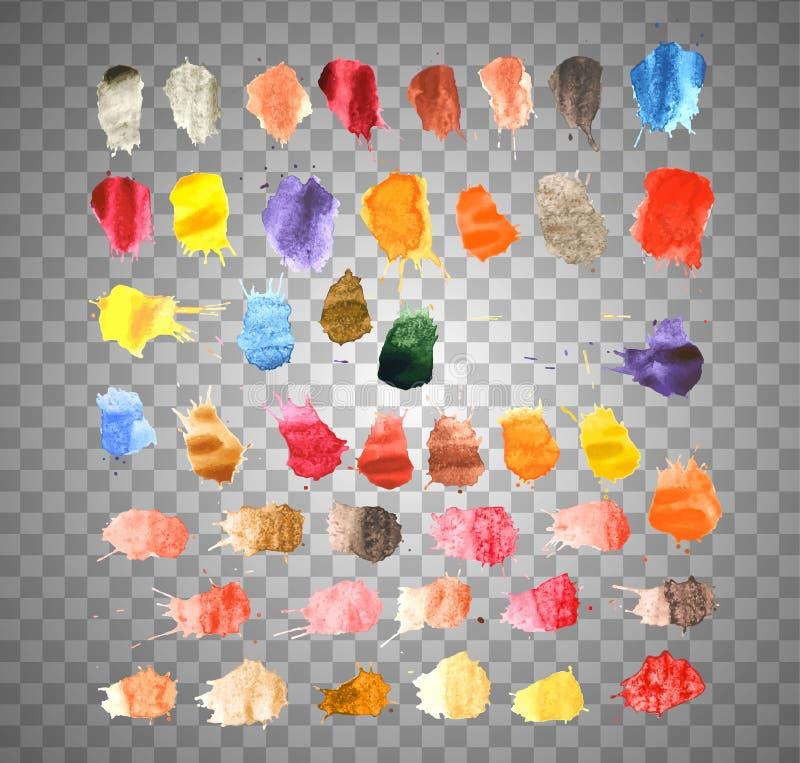 Kleurrijke Vectorplonsen - Vlek, Geplaatste Vlekken vector illustratie