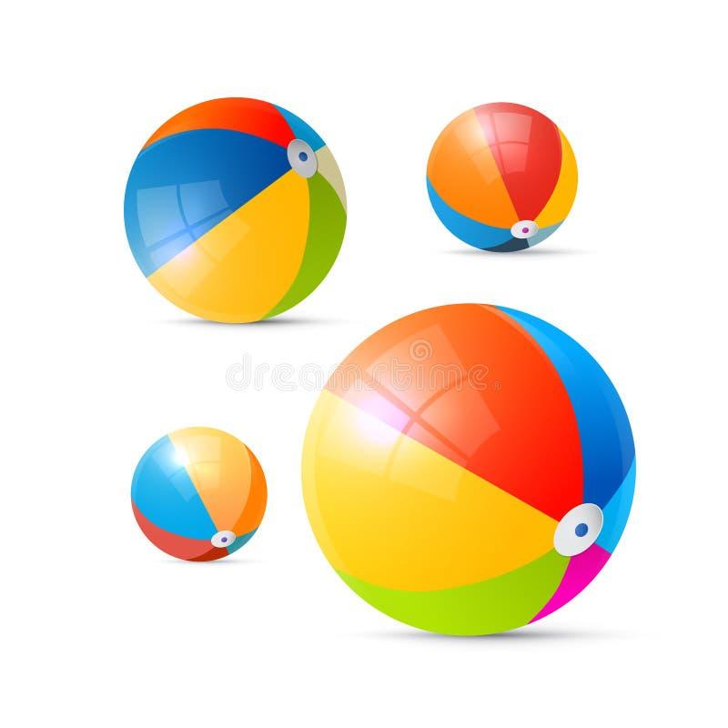 Kleurrijke Vectorstrandballen vector illustratie