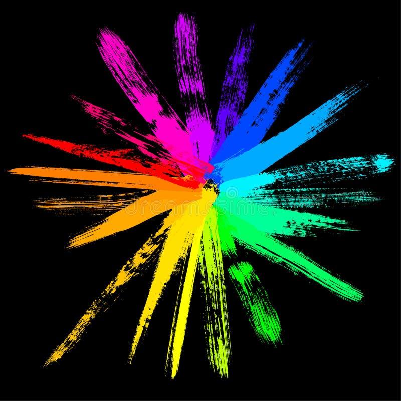 Kleurrijke vectorzon royalty-vrije illustratie