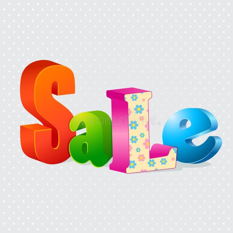 Kleurrijke verkoop 3d brieven royalty-vrije illustratie