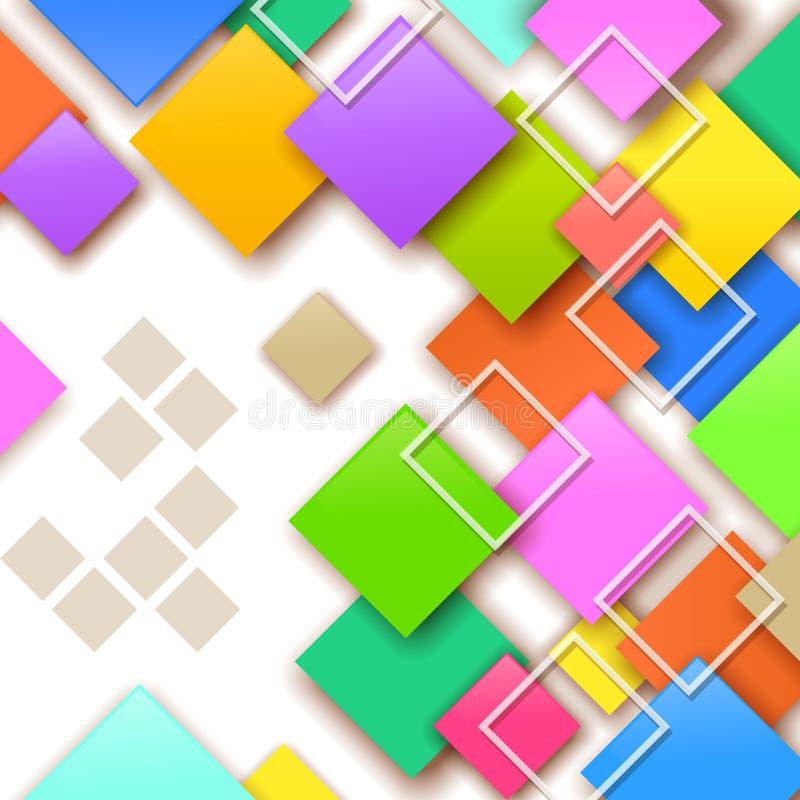Kleurrijke vierkante achtergrond stock afbeeldingen