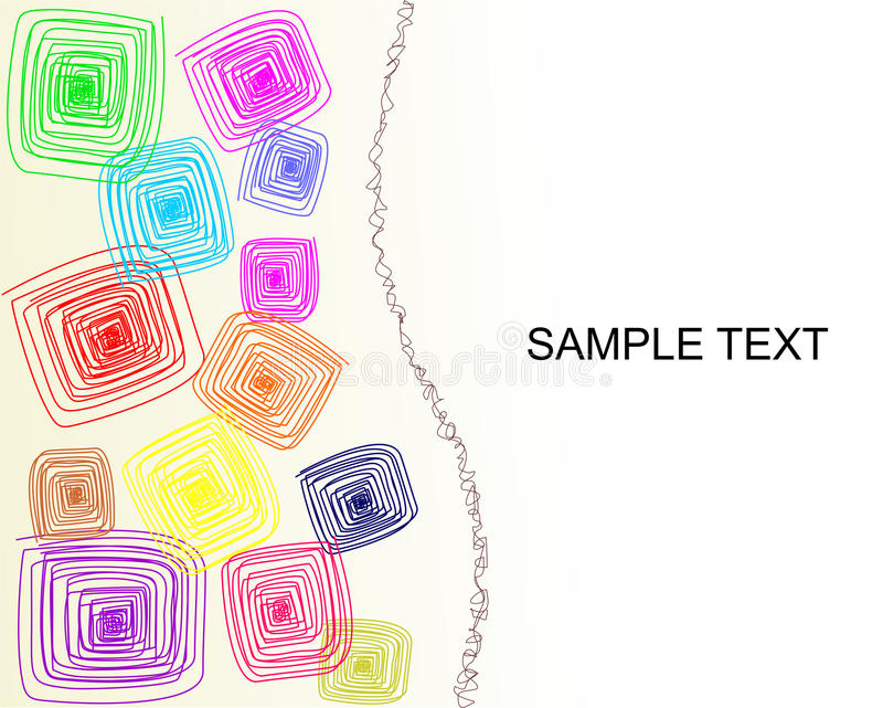 Kleurrijke vierkantenachtergrond stock fotografie