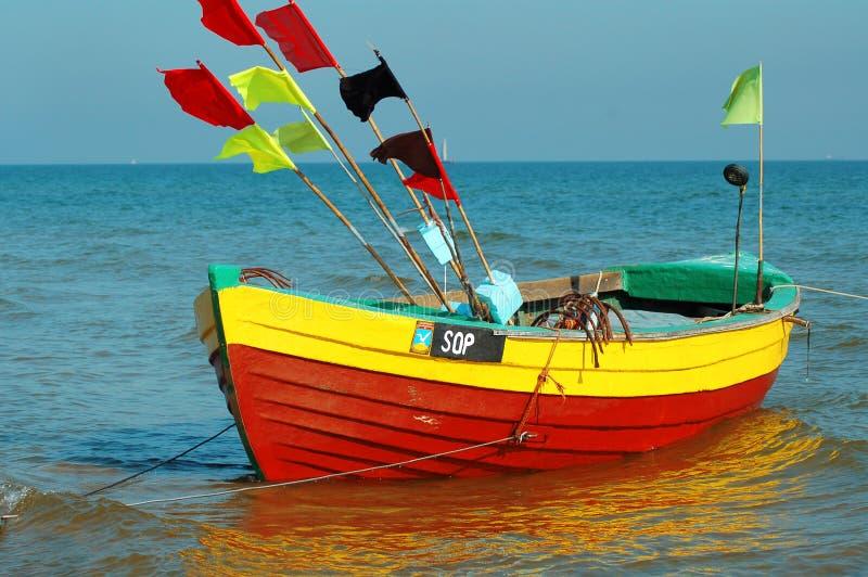 Kleurrijke vissersboot royalty-vrije stock afbeeldingen