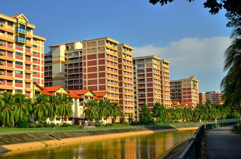 Kleurrijke Vlakten in Singapore stock foto