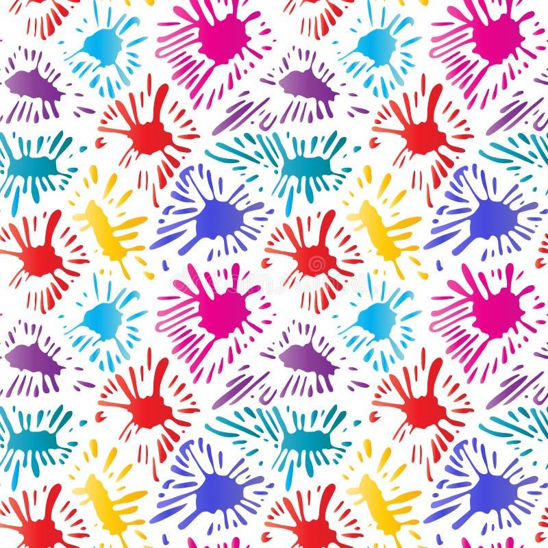 Kleurrijke vlekken van verf Kleureninkt splat royalty-vrije illustratie