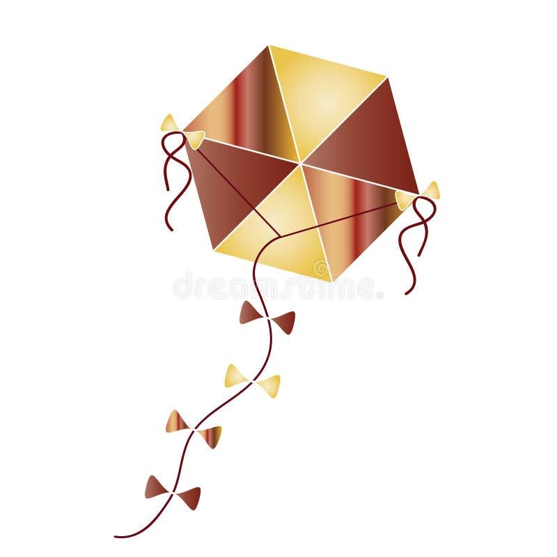 Kleurrijke vliegervector - traditionele Griekse Schone Maandagvlieger vector illustratie