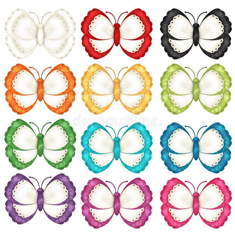 Kleurrijke Vlinders stock illustratie