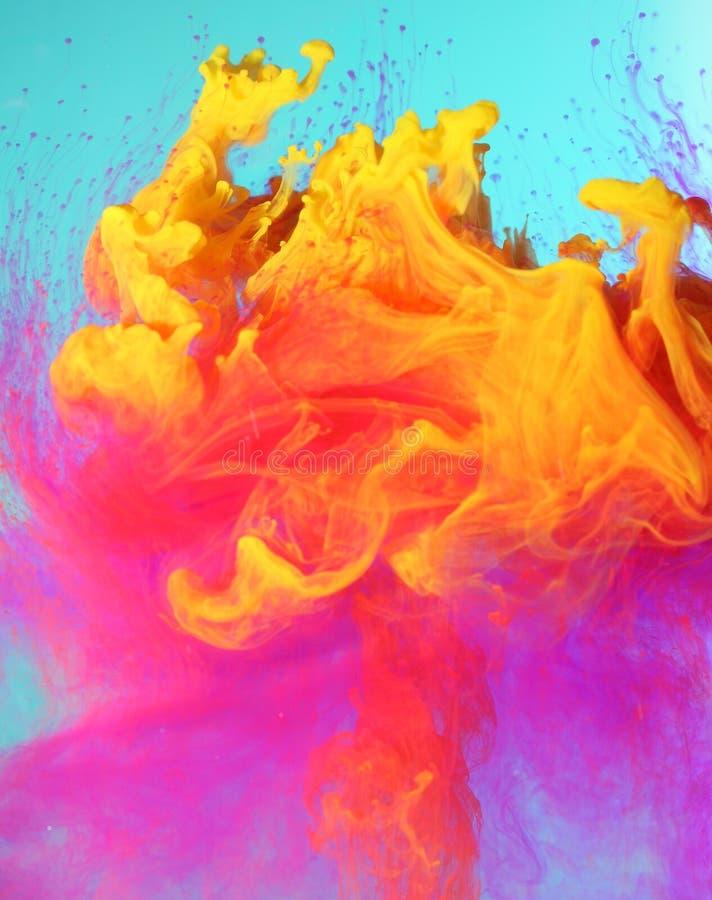 Kleurrijke vloeibare verven royalty-vrije stock foto's