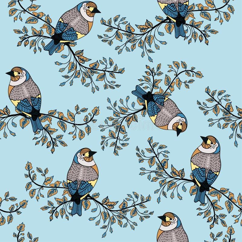 Kleurrijke vogelachtergrond 6 royalty-vrije stock afbeelding