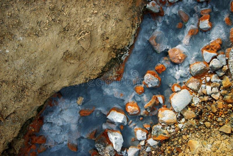 Kleurrijke warmwaterbron royalty-vrije stock foto