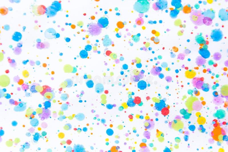 Kleurrijke waterkleur het schilderen plons Vlek, Vage vlek Met t stock foto