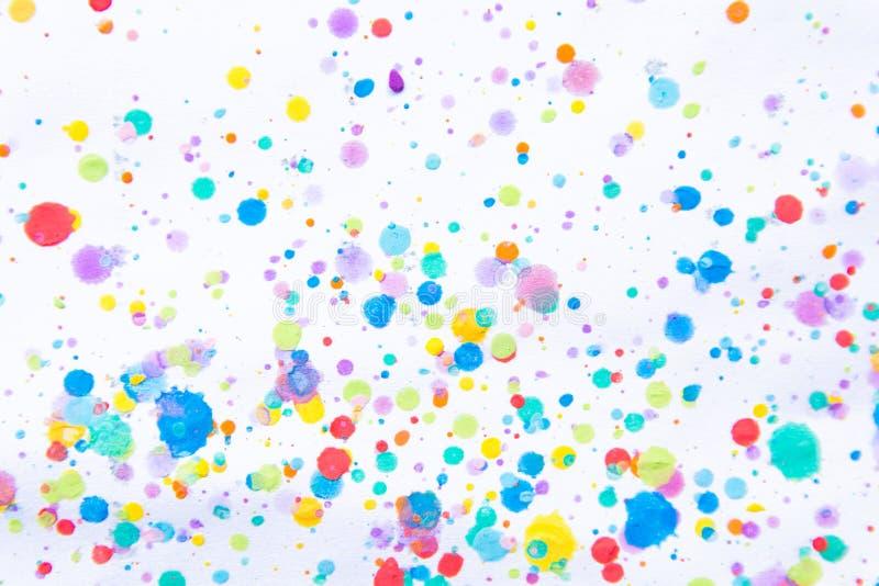 Kleurrijke waterkleur het schilderen plons Vlek, Vage vlek Met t stock afbeeldingen