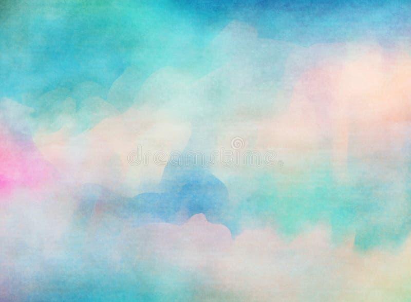 Kleurrijke waterverf De textuurachtergrond van Grunge royalty-vrije illustratie