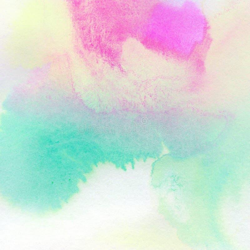 Kleurrijke waterverf geschilderde achtergrond vector illustratie