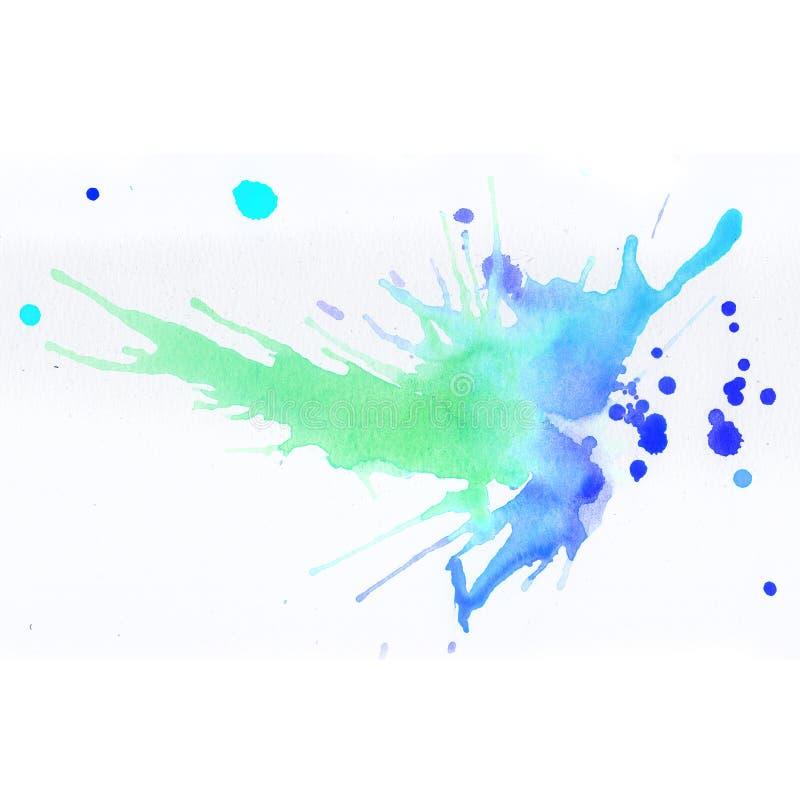 Kleurrijke waterverfplonsen royalty-vrije illustratie