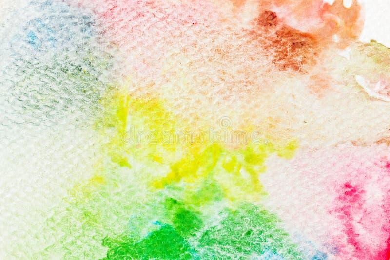 Kleurrijke waterverfverf op canvas Super hoge resolutie en kwaliteitsachtergrond royalty-vrije illustratie